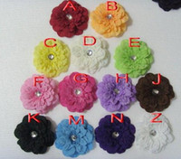 Flower Hair Clips Halloween Children's headwear Girl's hair clip Pectoral flower Colorful peony hair accessory Diameter 13 Alloy