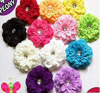 Cheap Children's headwear Girl's hair clip Pectoral flower Colorful peony hair accessory Cloth