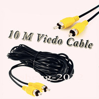 Wholesale 10M Ft Single RCA Male to Male Composite Video Extension Cable Black