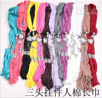 Wholesale Soft Charm Pendant Scarves Jewelry Scarves Fashion Jewelry Scarf Mix Colors fashion scarf new