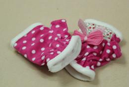 Wholesale Children sa half means the gloves Baby warm thicken gloves Pink bowknot add wool mitten Velvet
