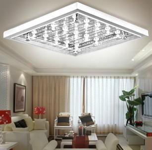 2017 Modern Minimalist White Glass Led Rectangular Ceiling