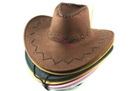 Wholesale Mens Womens Cowboy Hats colours Fashion Artificial Suede