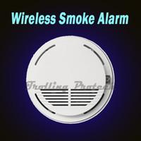 Smoke Detectors   Wireless Smoke Detector Fire Alarm Sensor for GSM PSTN Security Burglar Alarm System Accessory