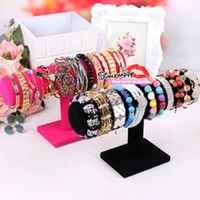 Jewelry Stand Bracelet Wood T-bar Bracelets watches Display stand hair clips jewelry bangle watch organizer Holder for sale