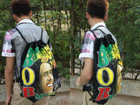 Wholesale 1pcs Bob Marley Canvas Tote Backpack Bag for Men and Women styles can choose