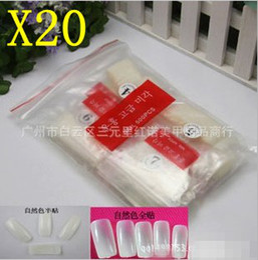 Wholesale 500pcs White natural Acylic French Artificial False Nail