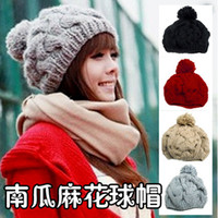 Wholesale Autumn and Winter Weatherization Wool Cap Knitted Cap Bud Cap Ball Cap