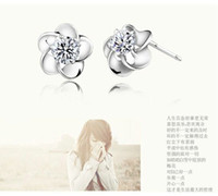 Alloy aa earrings - Sparking AA Zircon Earrings Flower Stud Earrings