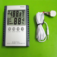 Digital Living Room  Thermometers Plastic Free shipping Weather Station Indoor Outdoor Thermometer Hygrometer N