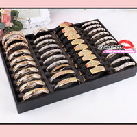 Wholesale Bangles Bracelets Organizer slots Jewelry Tray jewelry Display Stand wooden Bangle display Holder
