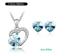 Wholesale Heart Crystal Jewelry Set Fashion Jewelry