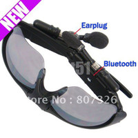 Wholesale pieceFast shipping Bluetooth Sunglasses Headset For Motorola Nokia iPhone