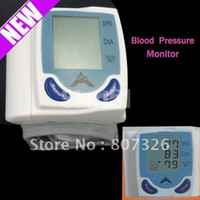 Wholesale pieceFast shipping Digital Wrist Blood Pressure Monitor Heart Beat Meter