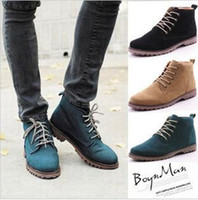 Wholesale Autumn men tide short boots Martin boots man British fashion boot high help shoes boots colours