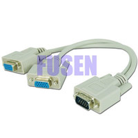 Wholesale New PC to Monitors Y Splitter Cable For VGA Video