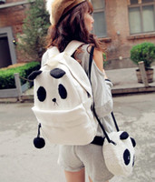 Wholesale canvas lovely panda shoulder bag bags together and retail