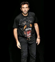 Wholesale 2012 new style mens womens loose rottweiler short sleeve shirt t shirt tops tanks tops size M L XL