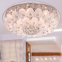 Fluorescent bedroom ceiling lamps - modern and simple Crystal Light led ceiling lamps living room lamps bedroom lighting restaurant ligh
