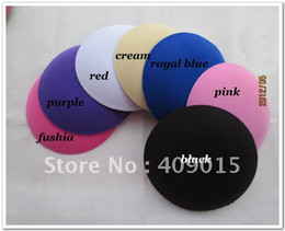 Wholesale 17cm felt round fascinator base DIY hair accessory color avaliable felt fascinator hair accessories pieces