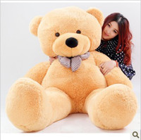 Teddy Bear White Plush Wholesale-High quality Low price Plush toys large size100cm teddy bear 1m big embrace bear doll