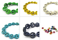 Wholesale 300pcs mm diy loose beads accessories turquoise peace loose beads colors to choose from
