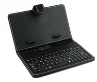 Wholesale Leather Case with Micro USB Interface Keyboard for inch MID Tablet PC