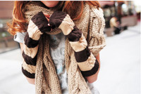 Wholesale New hot Female winter Korean knitted thermal gloves fashion arm sleeve half that gloves
