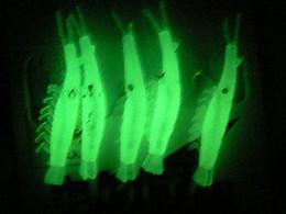 fishing glow shrimp sabiki rigs lure srhimp hook size 12-18#