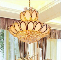 Wholesale Crystal pendant chandelier European Crystal Pendant Lamp Gold Crystal Ceiling Lamp which is suitable for Living Room Dinning Room Study Room