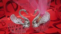 Pink Metal Cheap Candy box super beauty swan candy bags wedding supplies pink yarn Wedding Favor supplies