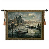 Wholesale The Belgian tapestry cotton tapestry European style Venice scenery