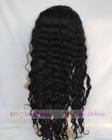 Wholesale Deep wave Brazilian virgin Human Hair Full Lace Wigs custom