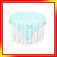 Wholesale Aqua Blue Turquoise Organza Table Overlay Cloth quot X72 quot Wedding Supply Party Sheer Colors OCL