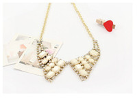 Wholesale 20 Discounts Triangle Collar Necklace Crystals Luxury Jewelry