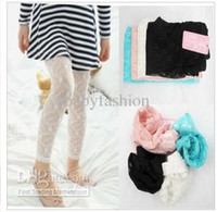 Christmas black pants - 2012 Autumn Popular Girl s Sweet Tights Children s Flower Lace Leggings Pink White Black Pants