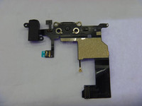 Wholesale For IPhone G Dock Connector Charger Flex Cable Headphone Audio Jack Ribbon Black Charging Port