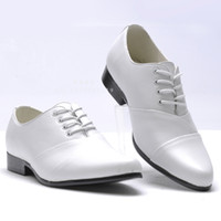 Men men dress shoes - Hot Sell Low Price men s wedding shoes prom shoes Dress Shoes white black Size