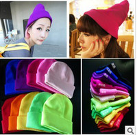 Wholesale New New Fashion Warm Colorful Winter Cap For Women and men Bigbang Neon Cap Knitted Hat