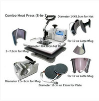 Wholesale Combo Heat Press Machine In Multiuse Heat Transfer T shirt Mug Cap Plate