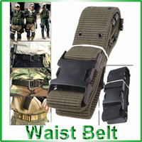 Wholesale Nylon Webbing Waist Belt Trouser Strap with Plastic Buckle for Men