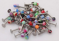 Wholesale Stainless Steel Barbell Labret Lip Eyebrow Ring Tongue Rings Body Piercing Jewelry