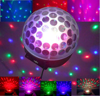 Wholesale Mini Voice activated LED RGB Crystal Magic Ball Effect stage Light Disco DJ Stage Lighting