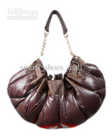 Wholesale Down Feather Bags Fashion Leather Handbags Womens Discount Shoulder Bags Brown Top Quality