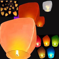 Sky Lantern Holiday  New hot sale COLOURED SKY LANTERNS CHINESE Fay Balloon Christmas gift - Wishing Lamp   Sky Lanterns