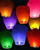 Wholesale Chinese Fay Balloon Wishing Lamp Paper Sky Candle Xmas Wedding Flying Party Lanterns