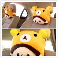 Wholesale 2015 new arrival MONCHHICHI cartoon headrest neck pillow kaozhen neck pillow car accessories