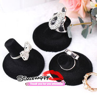 Wholesale Rings stand Black velvet Jewelry Display Holder single Ring showcase shelf good quality cheap Fashion jewel Rack