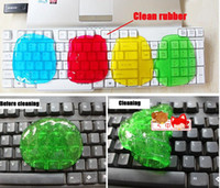 Wholesale 300X New Magic HighTech Re usable Super Clean Cyber Keyboard Dust Cleaning Cleaner