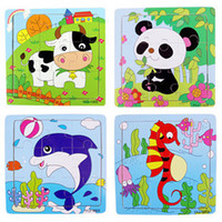 Wholesale Samples Wooden Puzzle Toys Children s Toys Kids Intelligence Jigsaw Puzzle Cartoon Animal Puzzle
